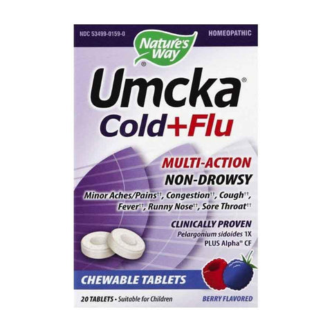 Nature's Way Umcka Cold + Flu Berry Chewable Tablets