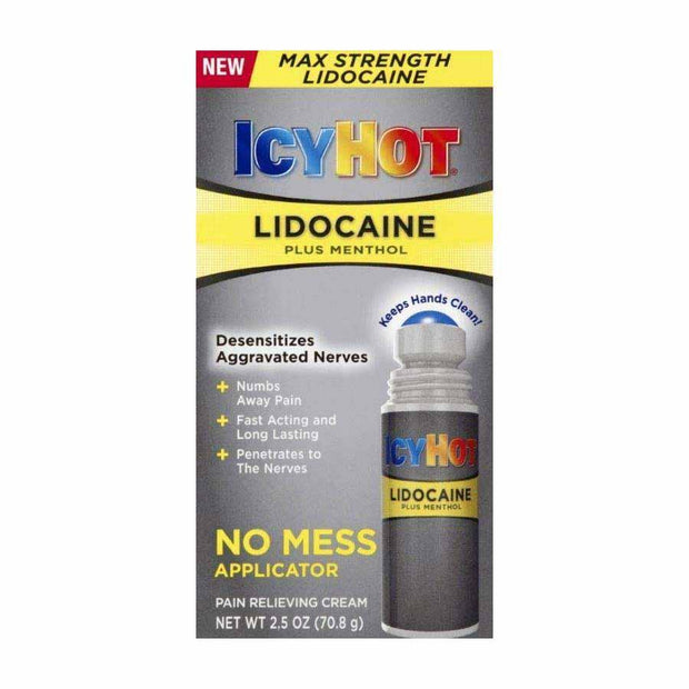 Icy Hot Pain Relief Lidocaine No Mess Applicator Liquid