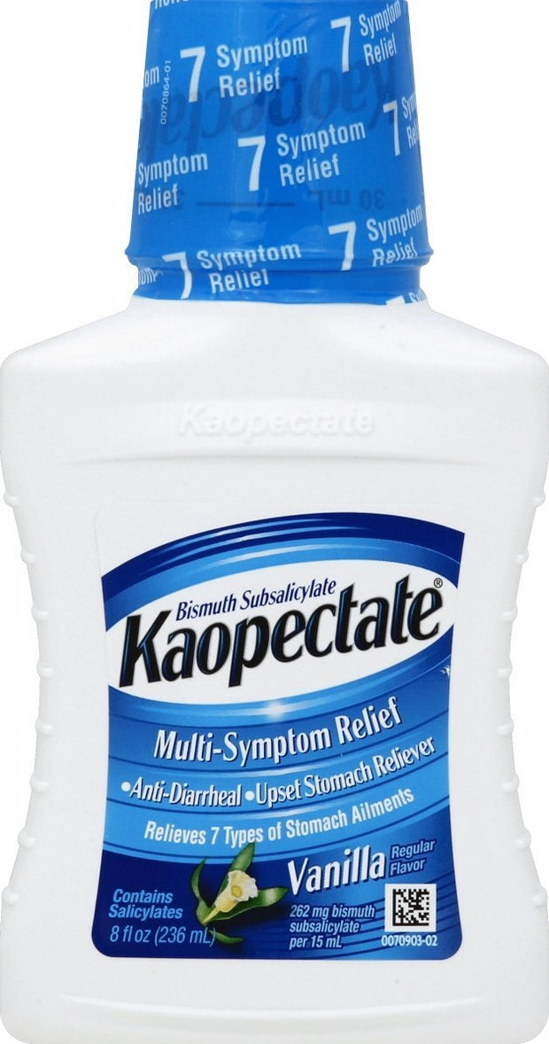 Kaopectate Multi-Symptom Relief Vanilla Liquid 8 oz