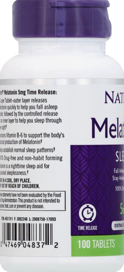 Natrol Melatonin 5mg Time Release Tablets