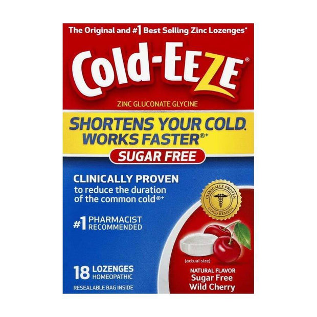 Cold-Eeze Cold Remedy Sugar Free Cherry Lozenges