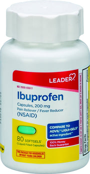 LEADER Ibuprofen Pain Reliever/Fever Reducer 200mg Softgels