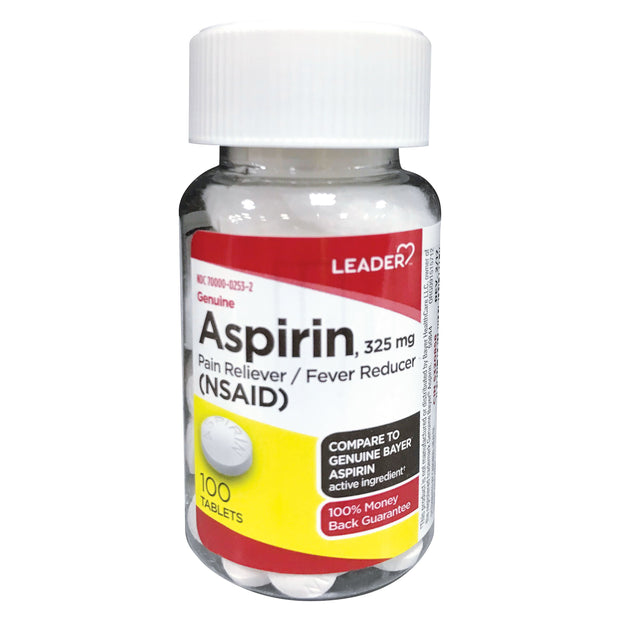 LEADER Aspirin 325mg Tablets