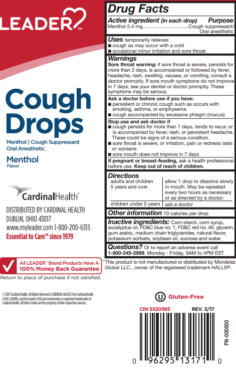 LEADER Cough Drops Menthol 30 ct