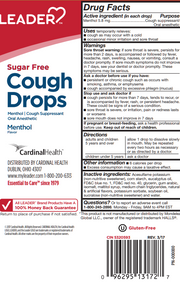 LEADER Cough Drops Sugar Free Menthol 25 ct
