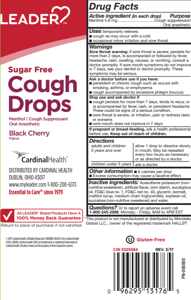 LEADER Cough Drops Sugar Free Black Cherry 25 ct