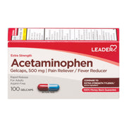 LEADER Acetaminophen Adult Extra Strength Rapid Release 500mg Gelcaps