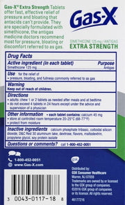 Gas-X Antigas Extra Strength Chewable Cherry Crème Tablets