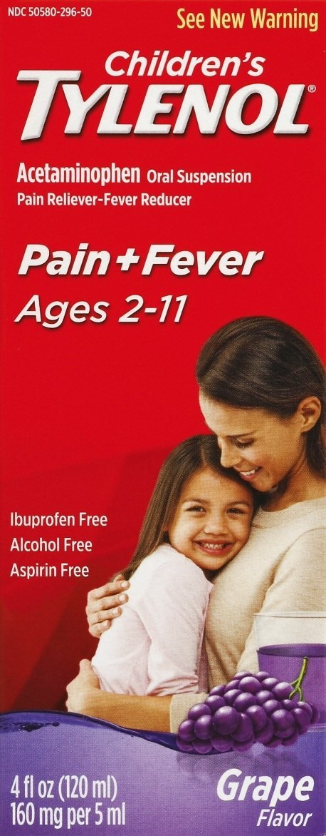 Children's Tylenol Pain Reliever/Fever Reducer Grape Syrup 4 oz