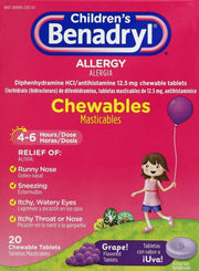 Children's Benadryl Allergy Relief Grape Chewables