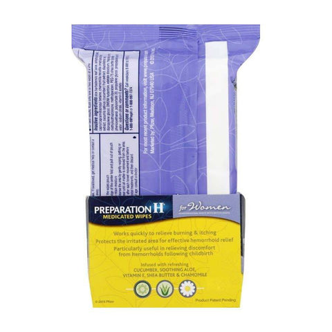 Preparation H Hemorrhoidal Medicated Wipes for Women
