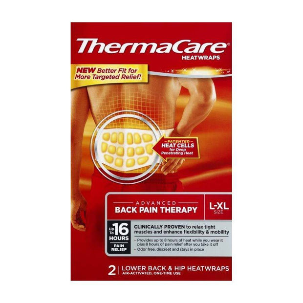 Thermacare Heatwraps Back & Hip Pain Large/X-Large