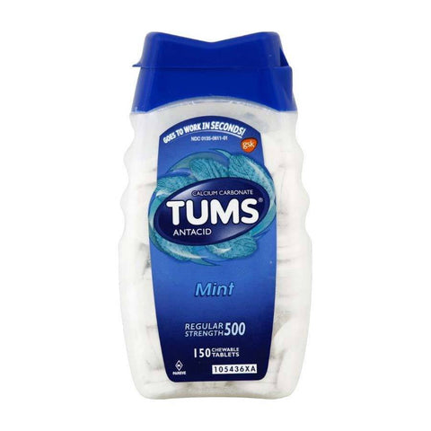 Tums Antacid Regular Strength Chewables Mint