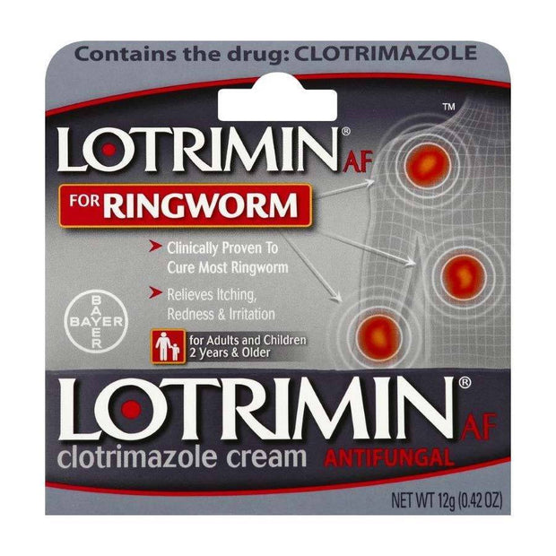Lotrimin AF for Ringworm Clotrimazole Cream