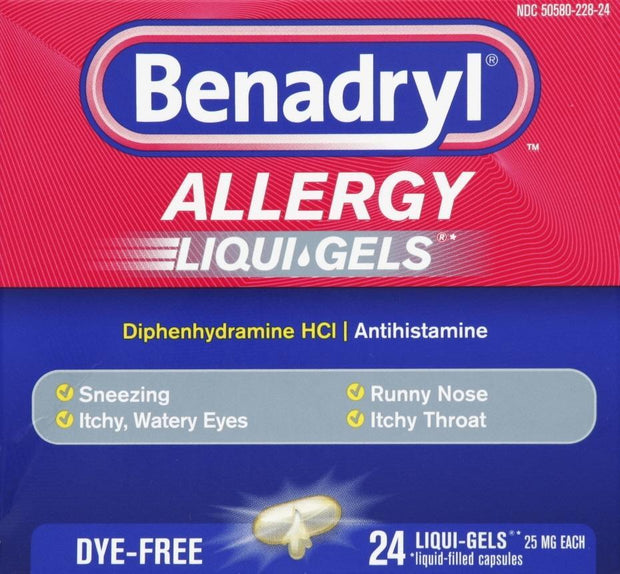 Benadryl Allergy Dye-Free 25mg Liqui-Gels 24 ct