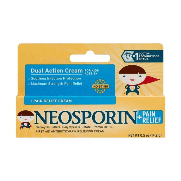 Neosporin For Kids + Pain Relief First Aid Antibiotic Cream