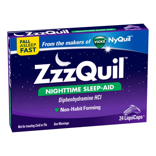 ZzzQuil Nighttime Sleep Aid Liquicaps