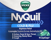 Vicks NyQuil Cold & Flu Relief LiquiCaps 16 ct