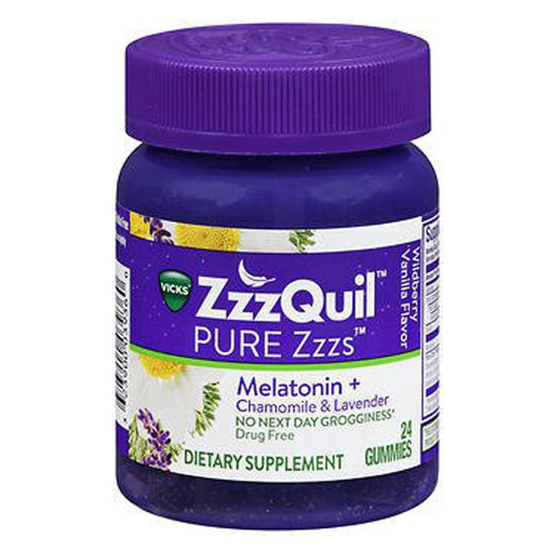 ZzzQuil Pure Zzzs Melatonin with Chamomile & Lavender Sleep Aid Gummies