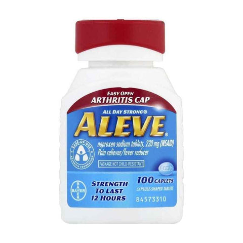 Aleve All Day Strong Pain Reliever/Fever Reducer Naproxen Sodium 220mg Caplets Easy Open Arthritis Cap