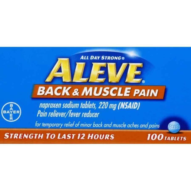 Aleve All Day Strong Back & Muscle Pain Naproxen Sodium 220mg Tablets