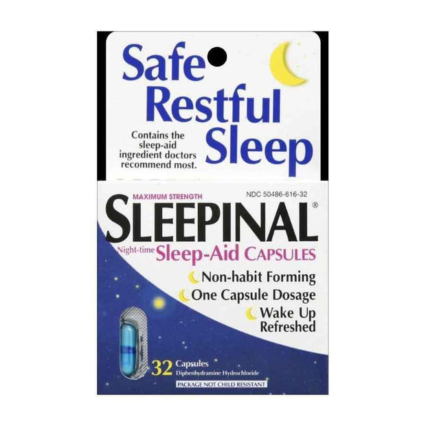 Sleepinal Sleep Aid Maximum Strength Caplets