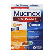Mucinex Sinus-Max Congestion + Cough Day & Night Liquid Gels