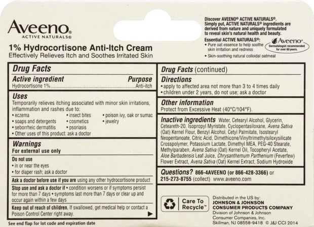Aveeno Hydrocortisone Anti-Itch Cream