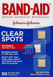 Band-Aid Clear Spots Adhesive Bandages One Size 50 ct