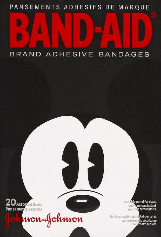 Band-Aid Adhesive Bandages Mickey Mouse Assorted 20 ct