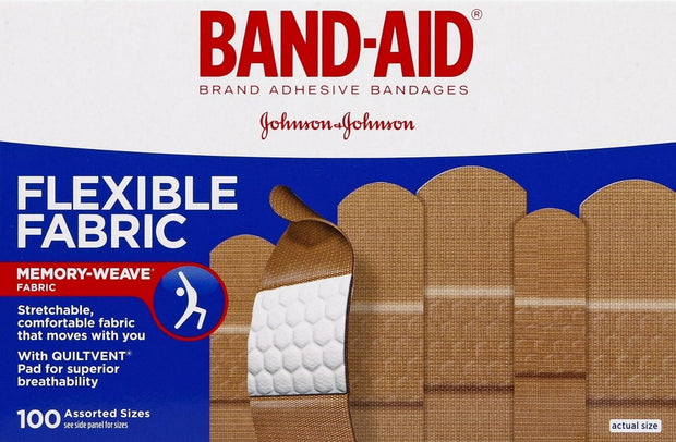 Band-Aid Flexible Fabric Adhesive Bandages Assorted