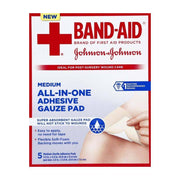 Band-Aid All-In-One Adhesive Gauze Pad Medium