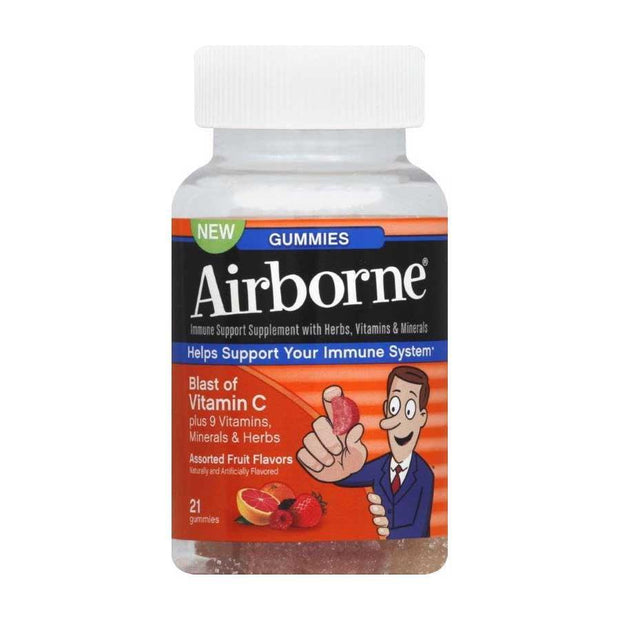 Airborne Immune Support Gummies Assorted Fruit 21 ct