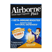 Airborne Immune Support Plus Beta-Immune Booster Packets Zesty Orange