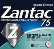 Zantac 75 Heartburn Relief Tablets