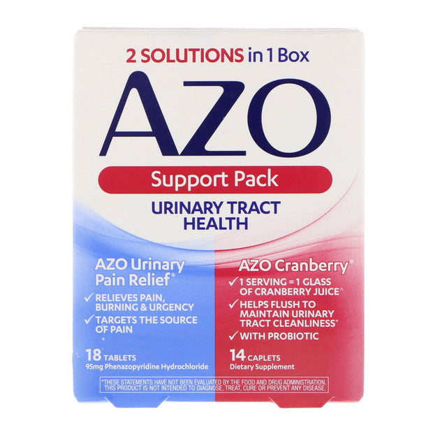 AZO Urinary Tract Health Pain Relief Tablets & Cranberry Caplets