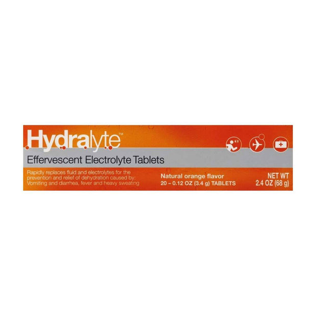 Hydralyte Electrolyte Effervescent Orange Tablets