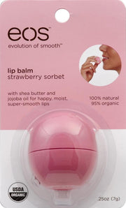 EOS Lip Balm Sphere Strawberry Sorbet 0.25 oz