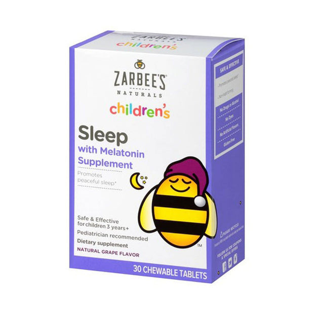 Zarbee's Naturals Children's Sleep Aid Grape Chewable Tablets