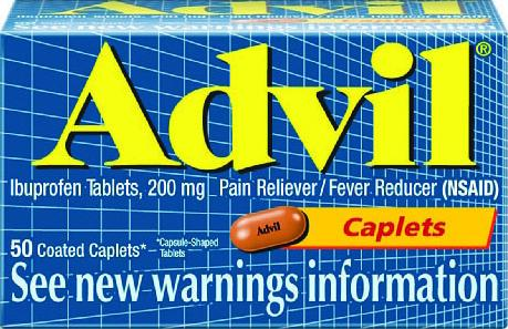 Advil Pain Reliever/Fever Reducer Ibuprofen Caplets