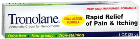 Tronolane Dual Action Anesthetic Cream for Hemorrhoids