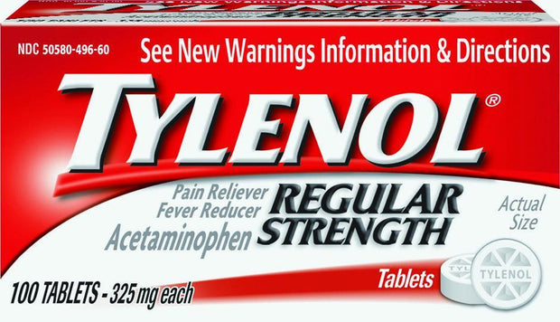 Tylenol Regular Strength Pain Reliever/Fever Reducer 325mg Tablets 100 ct