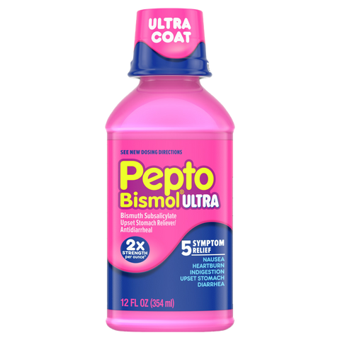 Pepto Bismol Max Strength Upset Stomach Reliever/Antidiarrheal Original Liquid