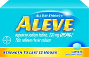 Aleve All Day Strong Pain Reliever/Fever Reducer Naproxen Sodium 220mg Caplets