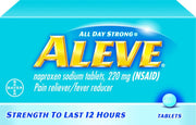 Aleve All Day Strong Pain Reliever/Fever Reducer Naproxen Sodium 220mg Tablets