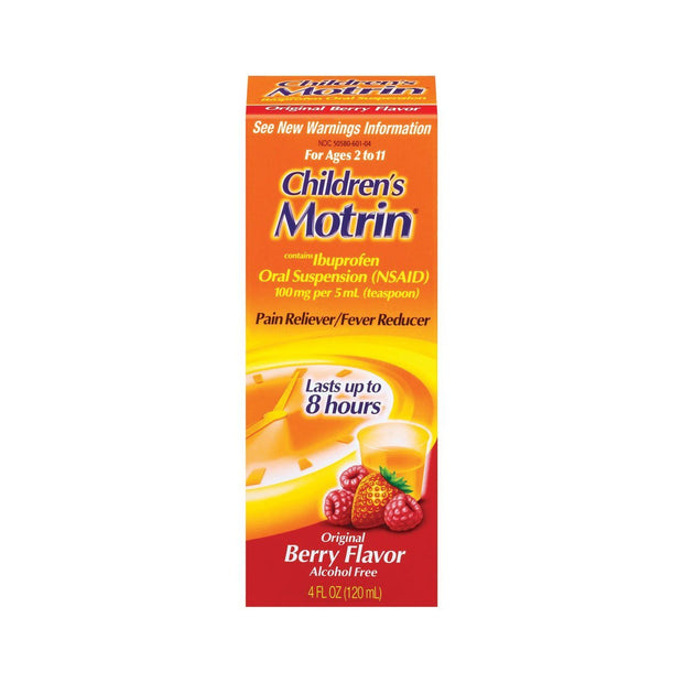 Children's Motrin Pain Reliever/Fever Reducer Ibuprofen Berry Oral Suspension 4 oz