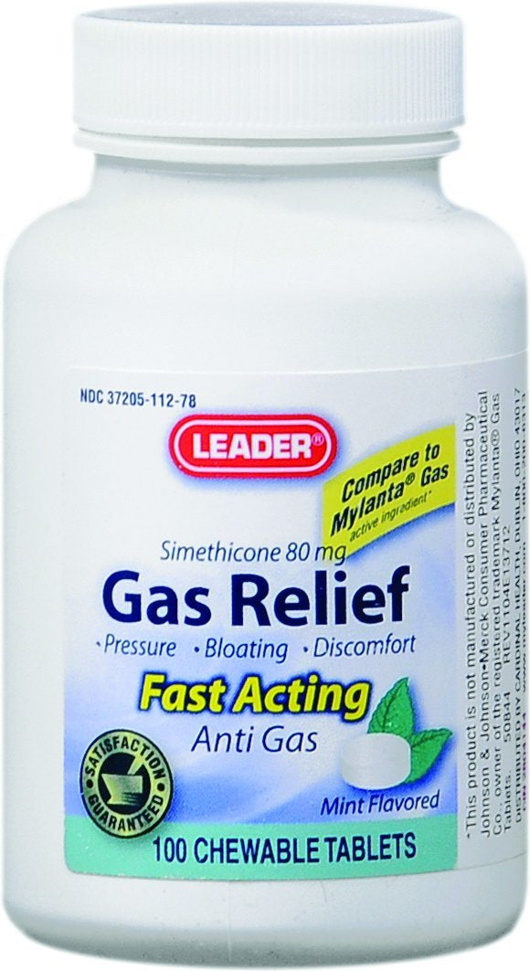 LEADER Gas Relief Chewable Tablets 100 ct