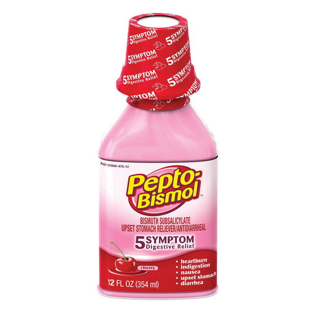 Pepto Bismol Upset Stomach Reliever/Antidiarrheal Cherry Liquid