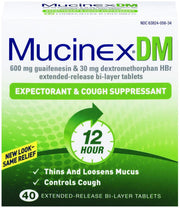 Mucinex DM 12 Hour Expectorant & Cough Suppressant Tablets