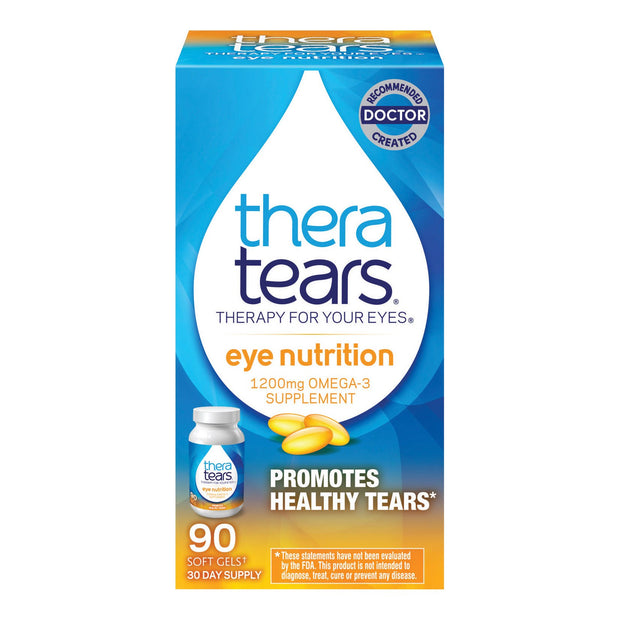 Thera Tears Eye Nutrition 1200mg Omega-3 Softgels 90 ct